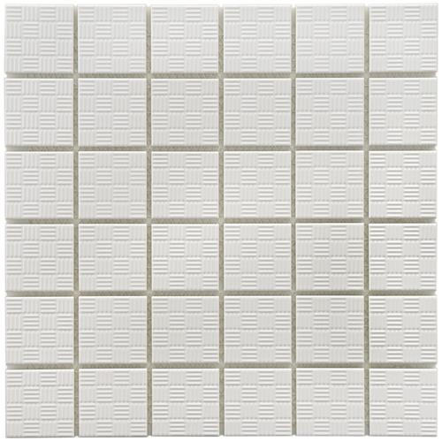 "Picture of 12""x12"" Sicilian D White 2"" Porcelain Floor/Wall Mosaic Tile"