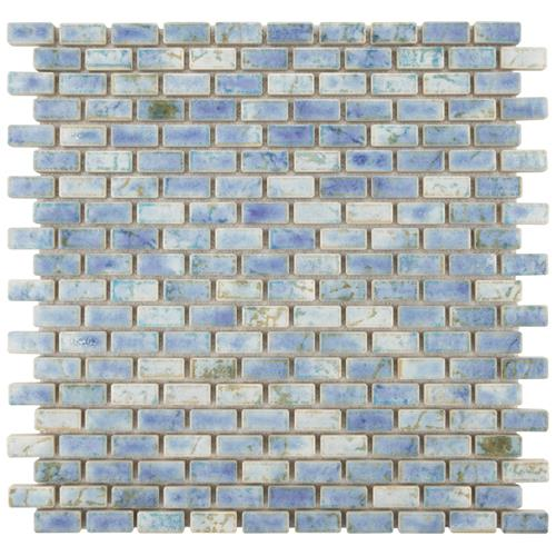 "Picture of Rustica Subway Neptune Blue 11-3/4""x11-3/4"" Porcelain Mos"