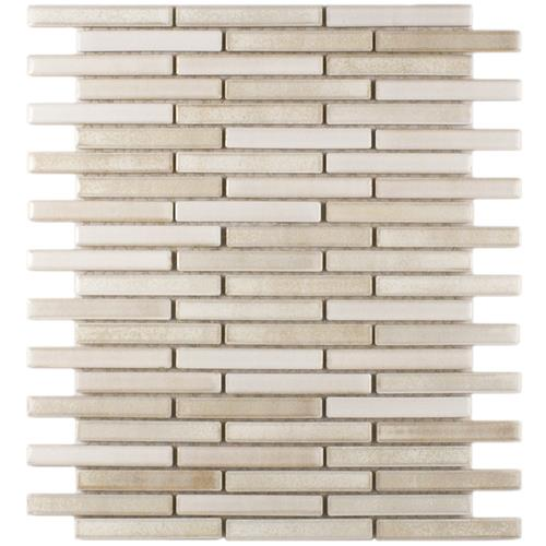 "Picture of Rustica Brick Glacier 10-3/4""x12-3/4"" Porcelain Mos"