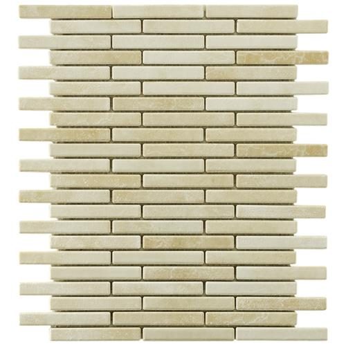 "Picture of 10.75""x12.75"" Rustica Brick 1/2""x3-1/2"" Perla Bone Porcelain"