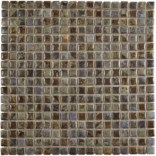 "Picture of Rustica Mini Noce Slate 12""x12"" Porcelain Mos"