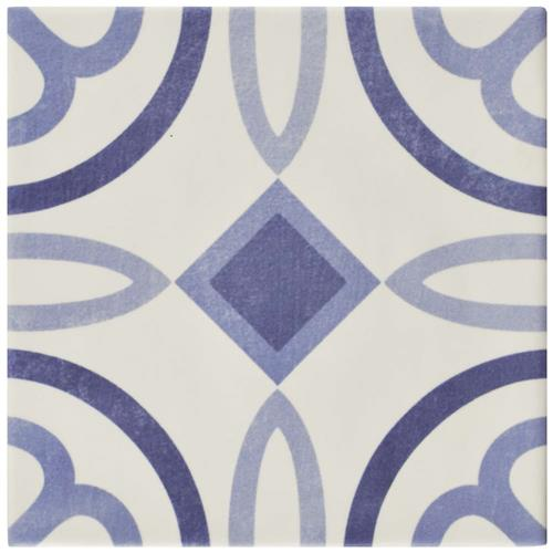 "Picture of Atelier Azul Marais 5-7/8""x5-7/8"" Ceramic F/W Tile"