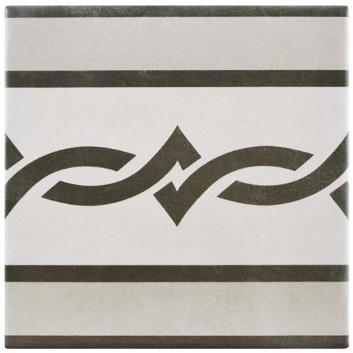 "Picture of Atelier Gris Cenefa 5-7/8""x5-7/8"" Ceramic F/W Tile"