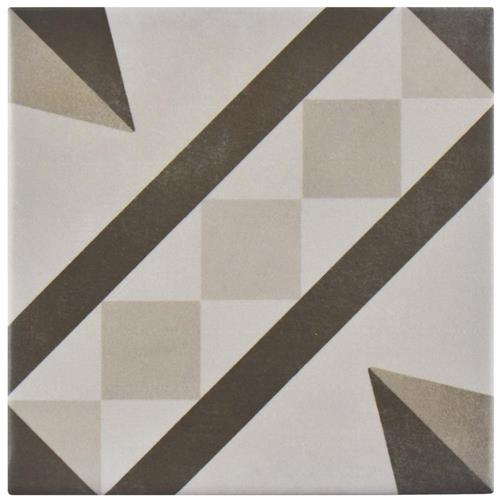 "Picture of Atelier Gris Vendome 5-7/8""x5-7/8"" Ceramic F/W Tile"