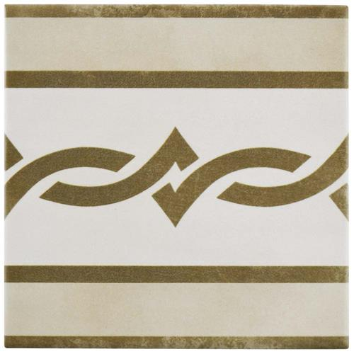 "Picture of Atelier Tabaco Cenefa 5-7/8""x5-7/8"" Ceramic F/W Tile"