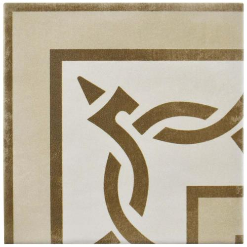 "Picture of Atelier Tabaco Esquina 5-7/8""x5-7/8"" Ceramic F/W Tile"