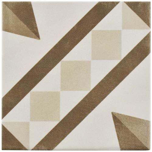 "Picture of Atelier Tabaco Vendome 5-7/8""x5-7/8"" Ceramic F/W Tile"