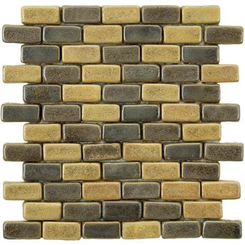 """Picture of Cobble Brick Cimarron 11""""x11-7/8"""" Ceramic Mos"""