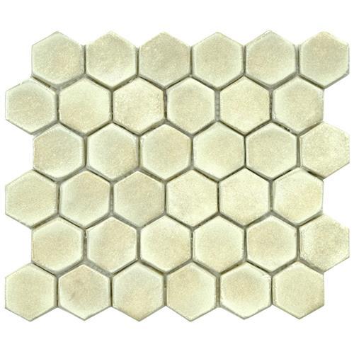 """Picture of Cobble Hex Polar 10-3/4""""x12"""" Ceramic Mos"""