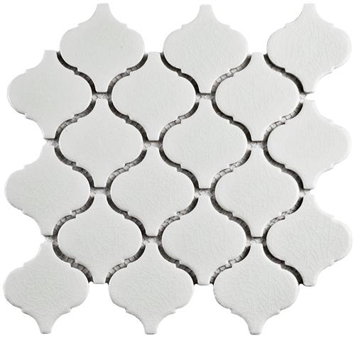"Picture of Metro Lantern Crackle White 9-3/4""x10-1/4"" Ceramic Mos"