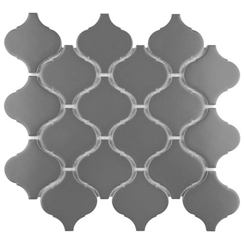 "Picture of Metro Lantern Matte Dark Grey 9-1/2""x10-3/4"" Porcelain Mos"