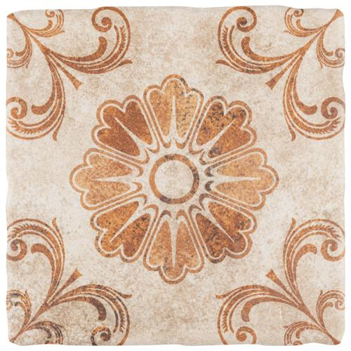 "Picture of Costa Arena 6 Decor Fleur 7-3/4""x7-3/4"" Ceramic F/W Tile"