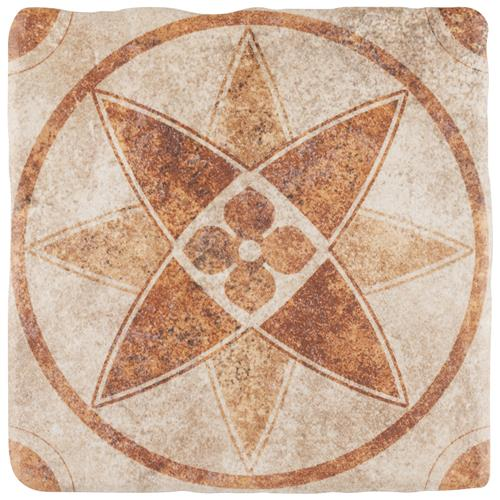 "Picture of Costa Arena 3 Decor Starflower 7-3/4""x7-3/4"" Ceramic F/W Til"