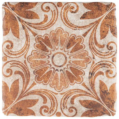 "Picture of Costa Arena 1 Decor Dahlia 7-3/4""x7-3/4"" Ceramic F/W Tile"