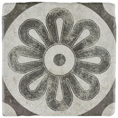 "Picture of Costa Cendra 4 Decor Zinnia 7-3/4""x7-3/4"" Ceramic F/W Tile"