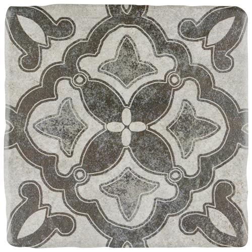 "Picture of Costa Cendra 2 Decor Clover 7-3/4""x7-3/4"" Ceramic F/W Tile"