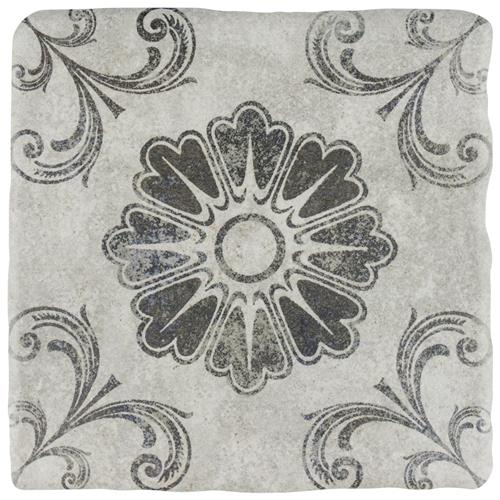 "Picture of Costa Cendra 6 Decor Fleur 7-3/4""x7-3/4"" Ceramic F/W Tile"