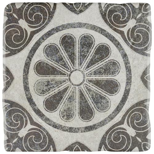 "Picture of Costa Cendra 5 Decor Daisy 7-3/4""x7-3/4"" Ceramic F/W Tile"