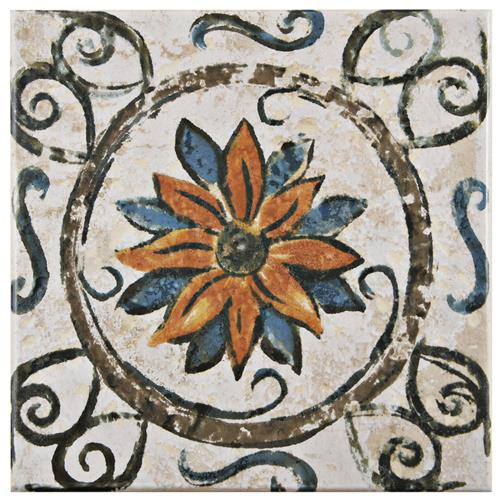 "Picture of Provence Tradition Cornflower 7-3/4""x7-3/4"" Ceramic F/W Tile"