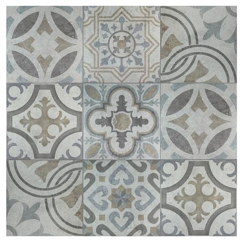 "Picture of Llanes Jet 13-1/8""x13-1/8"" Ceramic F/W Tile"