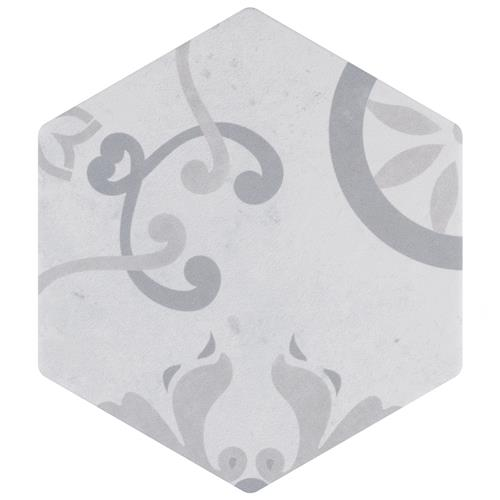 "Picture of Odda Hex Decor Trium 5-7/8""x6-3/4"" Porcelain F/W Tile"