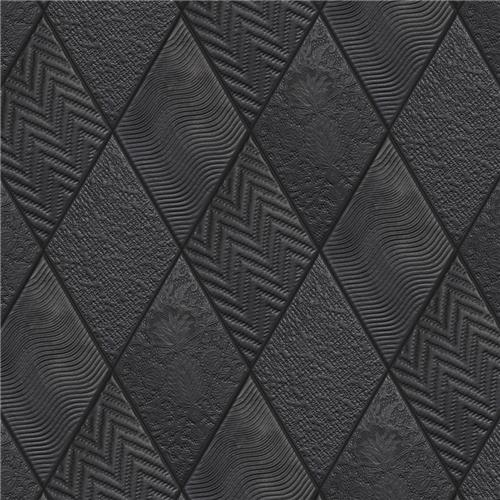 "Picture of Rhombus Black 5-1/2""x9-1/2"" Porcelain F/W Tile"