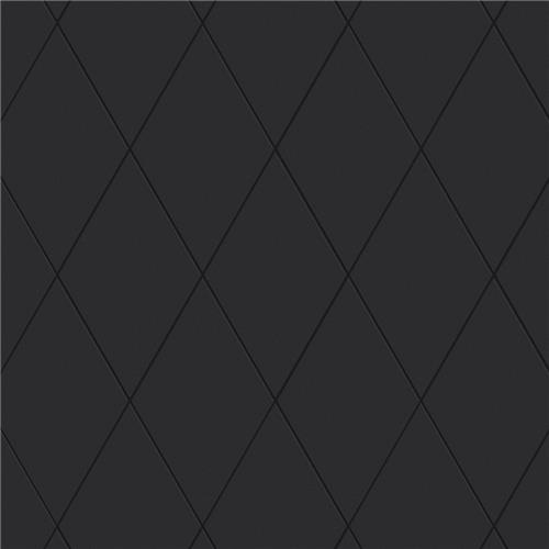 "Picture of Rhombus Smooth Black 5-1/2""x9-1/2"" Porcelain F/W Tile"