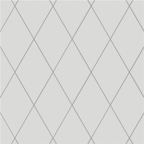 "Picture of Rhombus Smooth White 5-1/2""x9-1/2"" Porcelain F/W Tile"