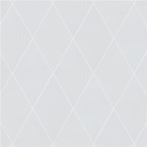 "Picture of Rhombus White 5-1/2""x9-1/2"" Porcelain F/W Tile"