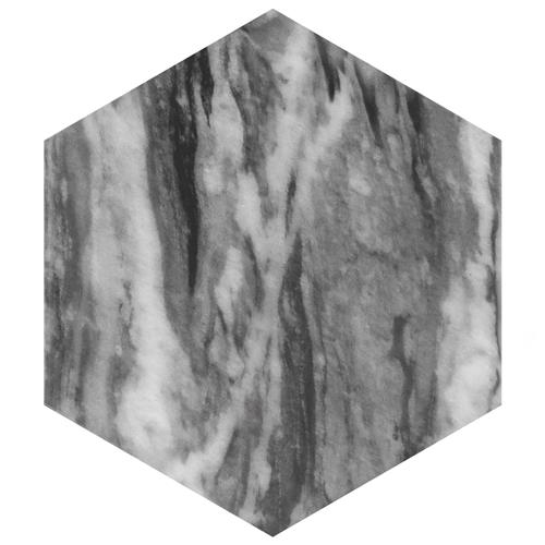 "Picture of Classico Bardiglio Hexagon Dark 7""x8"" Porcelain F/W Tile"