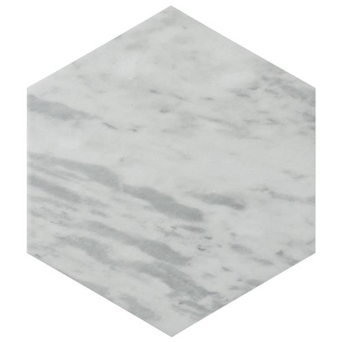 "Picture of Classico Bardiglio Hexagon Light 7""x8"" Porcelain F/W Tile"