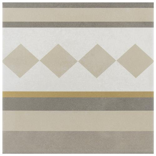 "Picture of Caprice Loire 7-7/8""x7-7/8"" Porcelain F/W Border Tile"