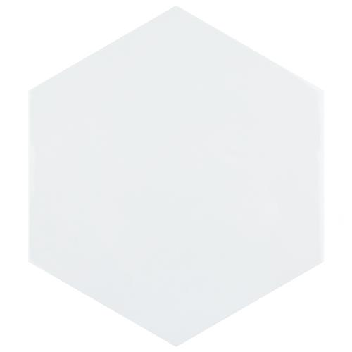 "Picture of Hexatile Glossy Blanco 7""x8"" Ceramic W Tile"