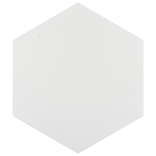 "Picture of Hexatile Matte Blanco 7""x8"" Porcelain F/W Tile"