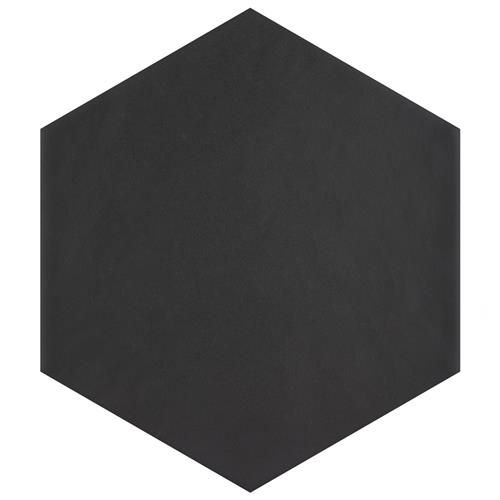 "Picture of Hexatile Matte Nero 7""x8"" Porcelain F/W Tile"