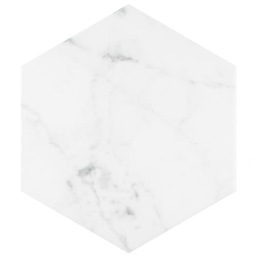"Picture of Classico Carrara Hexagon 7""x8"" Porcelain F/W Tile"