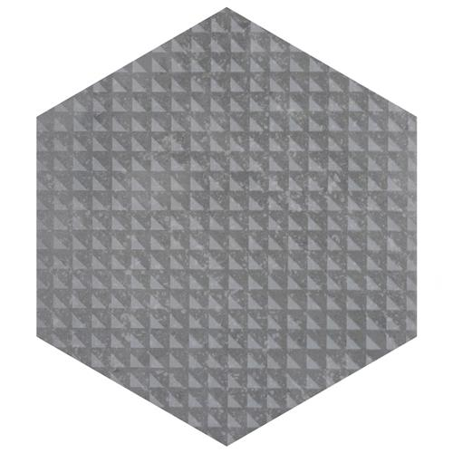 "Picture of Coralstone Hex Melange Grey 10""x11-1/2"" Porcelain F/W Tile"