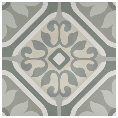 "Picture of Artista Atelier Flor Grey 13""x13"" Porcelain F/W Tile"