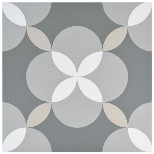 "Picture of Artista Atelier Geo Grey 13""x13"" Porcelain F/W Tile"