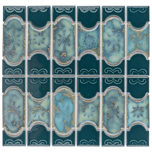 "Picture of Montego Emerald 12-1/4""x12-1/2"" Porcelain Mos BUE-37"