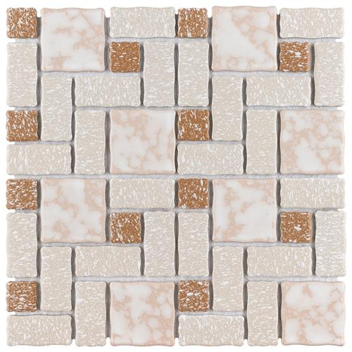 "Picture of Academy Beige 11-3/4""x11-3/4"" Porcelain Mos"
