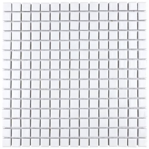 "Picture of Hudson Edge White 12-3/8""x12-3/8"" Porcelain Mos"