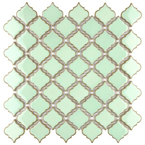 "Picture of Hudson Tangier Light Green 12-3/8""x12-1/2"" Porcelain Mos"