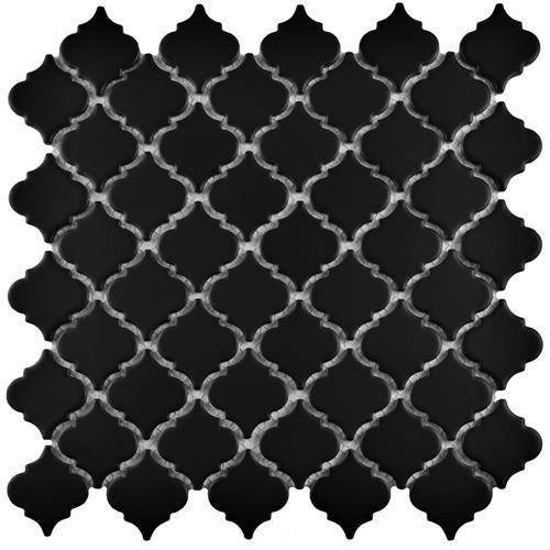 "Picture of Hudson Tangier Matte Black 12-3/8""x12-1/2"" Porcelain Mos"