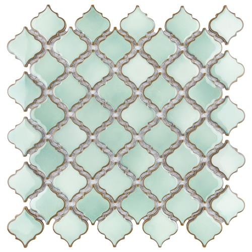 "Picture of Hudson Tangier Mint Green 12-3/8""x12-1/2"" Porcelain Mos"