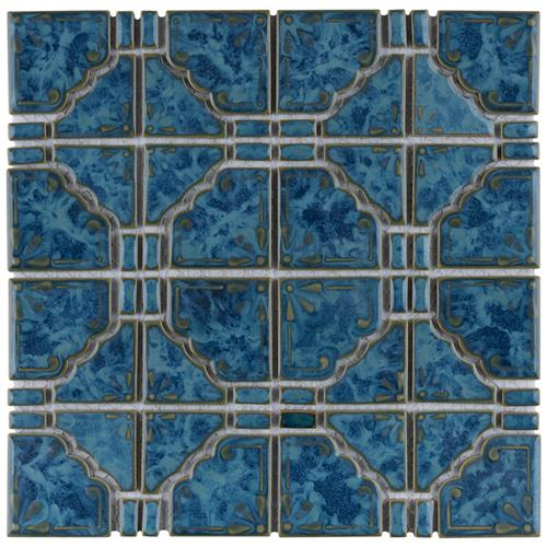 "Picture of Moonbeam Pacific Blue 11-3/4""x11-3/4"" Porcelain Mos"