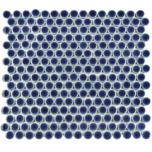 "Picture of 12.63""x12"" Hudson Penny Round Smoky Blue"
