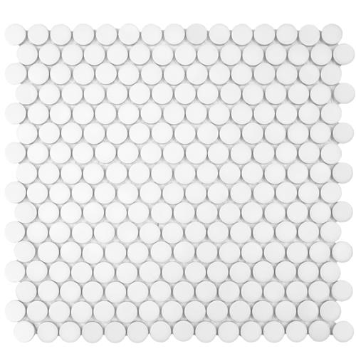 "Picture of 12.63""x12"" Hudson Penny Round Matte White"
