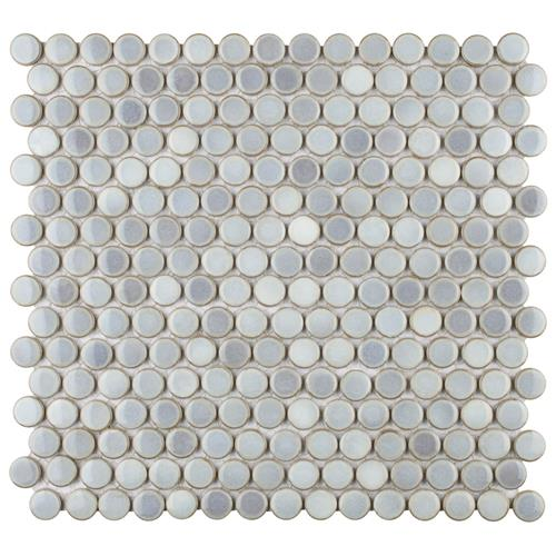 "Picture of 12.63""x12"" Hudson Penny Round Glossy Grey Eye"