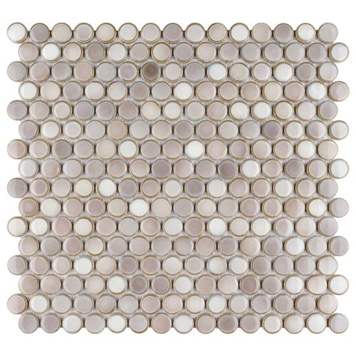 "Picture of 12.63""x12"" Hudson Penny Round Dove Grey"